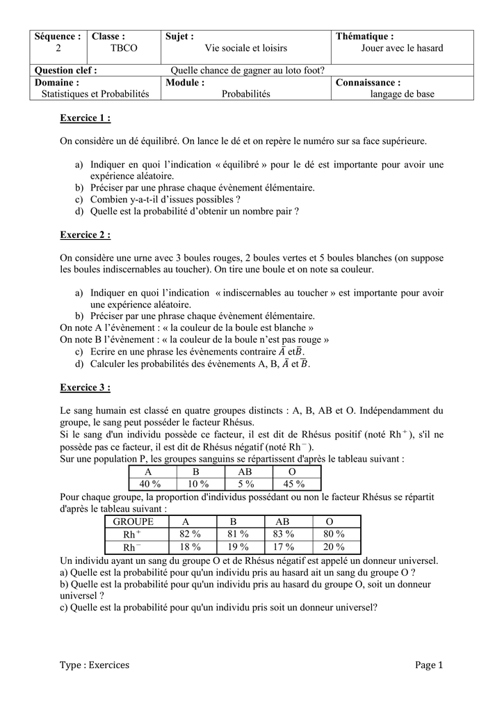 Sequence 2 Exercices Tle Bac Pro Gr C Maths