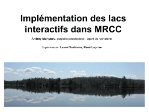 Introduction of lakes in the canadian climate models