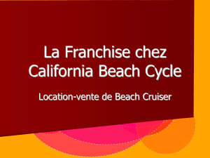 La Franchise chez California Beach Cycle - E