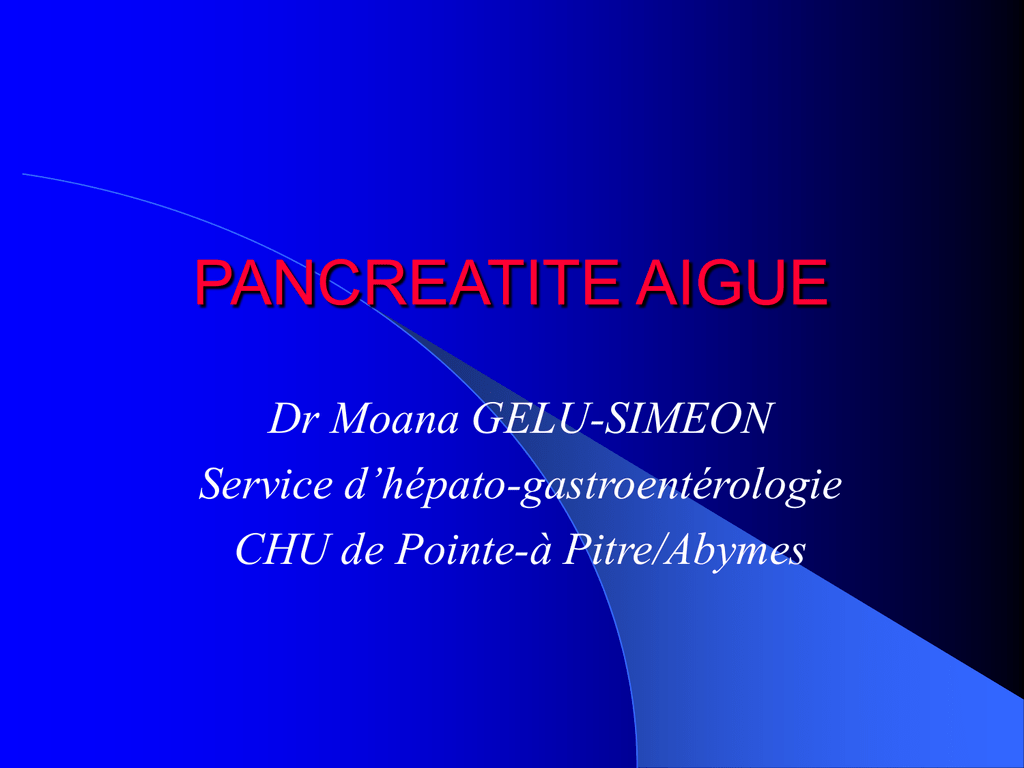 pancreatite aigue - E