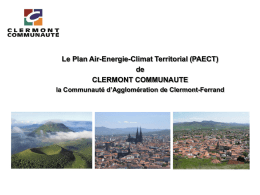 Le Plan Air-Energie-Climat Territorial (PAECT)
