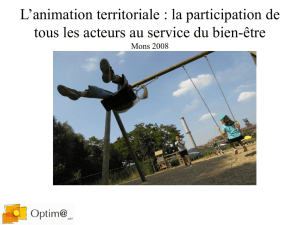 L`animation territoriale