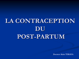 LA CONTRACEPTION DU POST