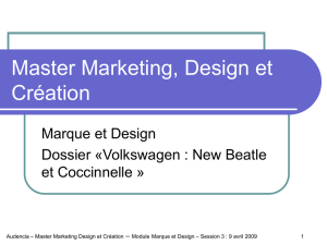 Master Marketing, Design et Création