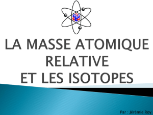 La masse atomique relative