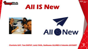 All IS New – Présentation