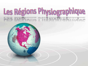 Les regions physiographiques
