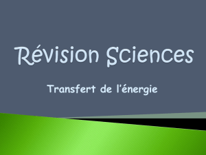 Révision Sciences - Classe de Mme Michelle