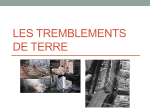 Notes: Les tremblements de terre