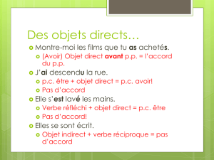 Des objets directs*
