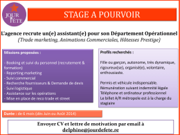 (Trade marketing, Animations Commerciales, Hôtesses Prestige