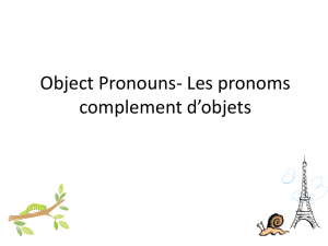 Object Pronouns (with le Petit Prince)