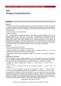 TP8 - Titrage d`oxydoréduction