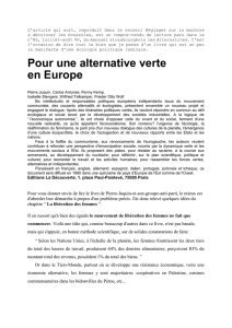 Pour une alternative verte