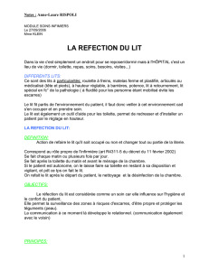 la refection du lit