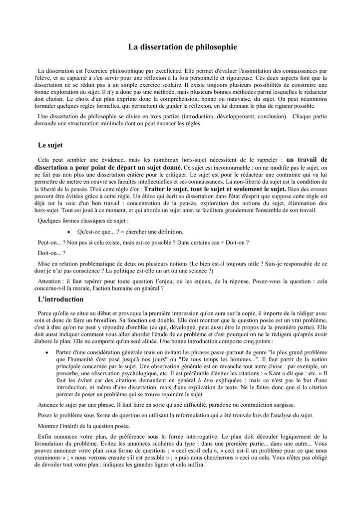 Dissertation philosophie que faut il respecter