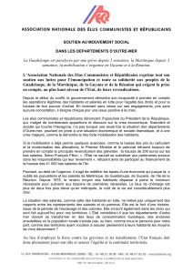 Communiqué de l`Association nationale