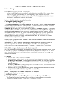 Section 2 : La détermination du résultat imposable
