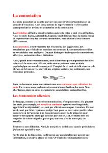 Exercice La Denotation Et La Connotation
