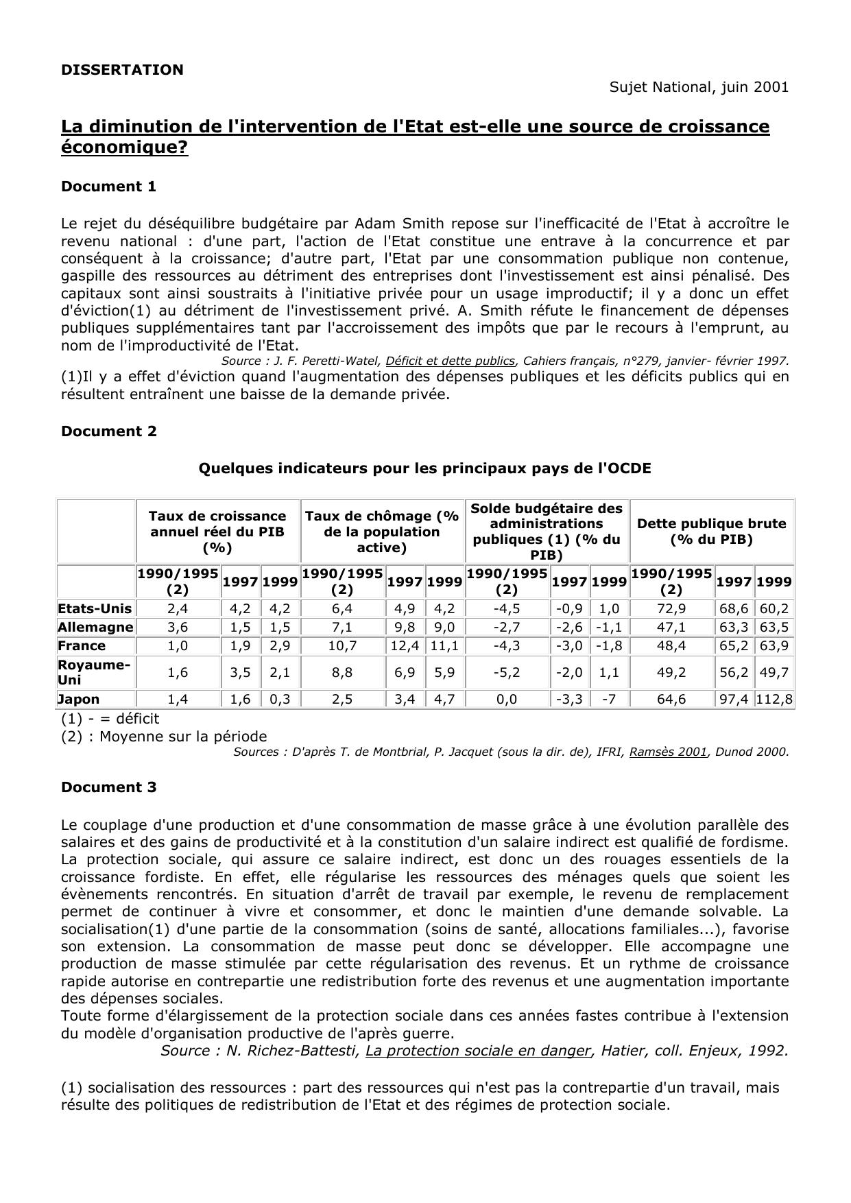 Exemple De Dissertation Sur Le Chomage - Le Meilleur Exemple