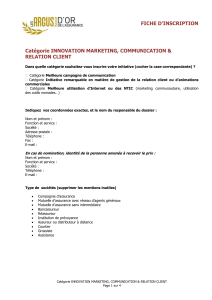 marketing, communication et relation client