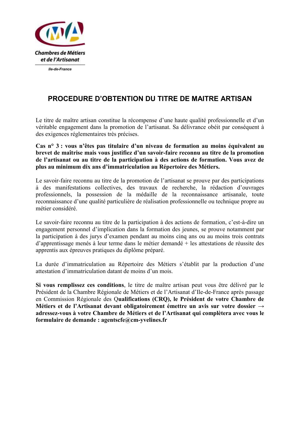 N D Immatriculation Au Repertoire Des Metiers