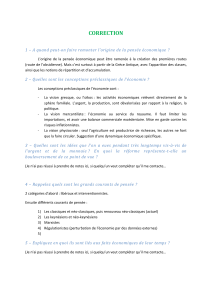 CORRECTION 1 – A quand peut-on faire remonter l`origine de la