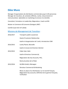 CV Ekke Munz - Management de transition