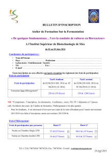 bulletin d*inscription