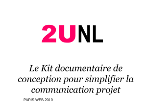 Le Kit documentaire de conception pour simplifier la communication