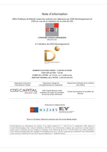 Note d`information - CDG Capital Bourse