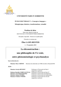 Position de thèse - Université Paris
