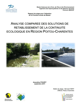 ANALYSE CO RETABLISS ECOLOGIQUE EN OMPAREE DES