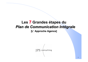 9. Le Plan de communication