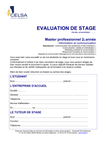 evaluation de stage