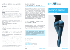 Brochure Cure d`hémorroïdes