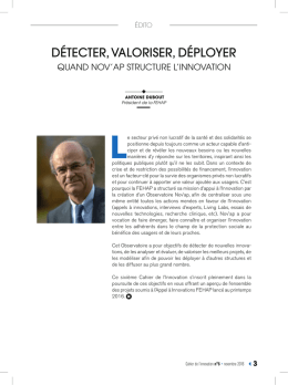 Cahier de l`innovation n°6