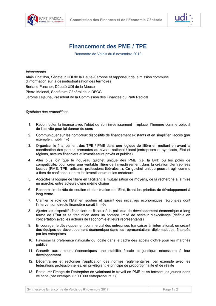 conseil synthese tpe