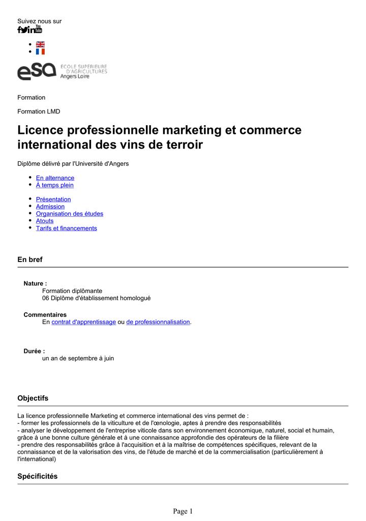 Exemple De Projet Tutoré Licence Pro Commerce - Le ...