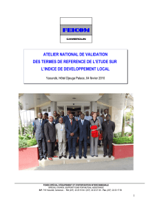 atelier national de validation des termes de reference de l