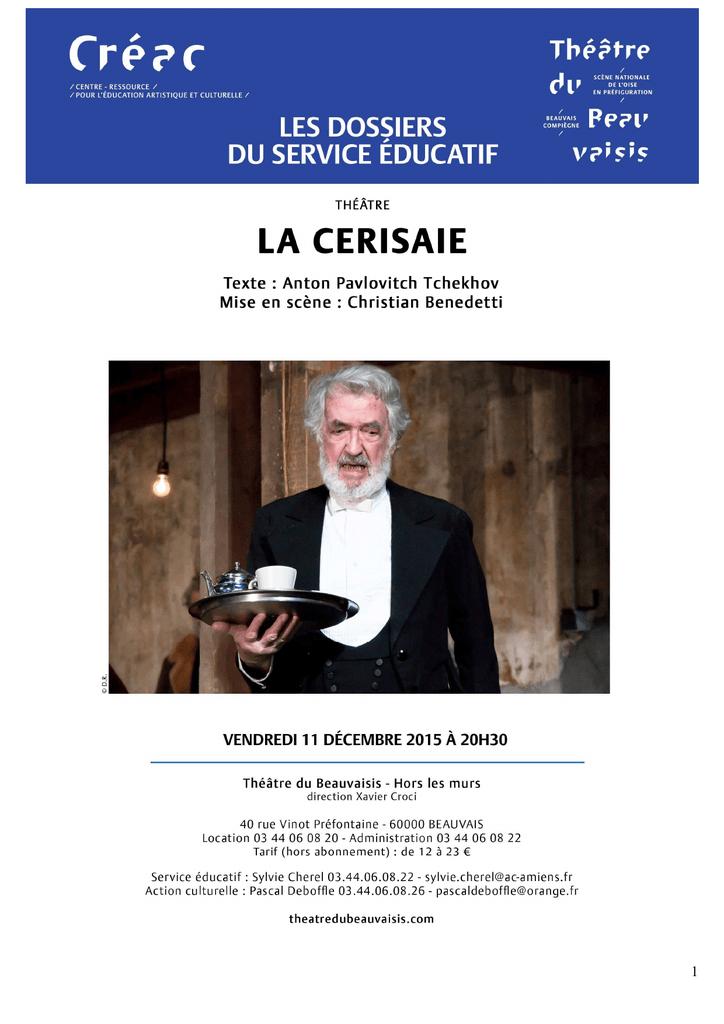 Dossier pédagogique La Cerisaie