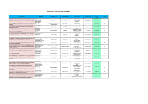 Planning des TFE 2013-2014 - Section BSI