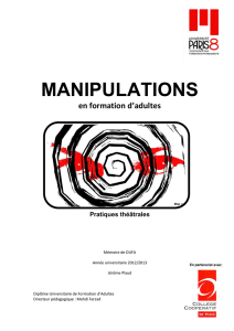 Manipulations en formation d`adultes