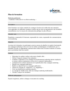 Plan de formation - EXPERTIS : formation continue