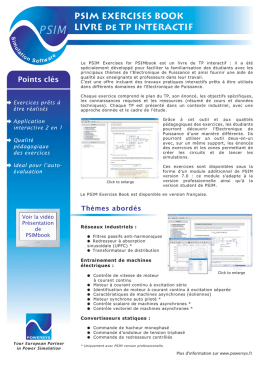 PSIM EXERCISES BOOK LIVRE de TP INTERACTIF