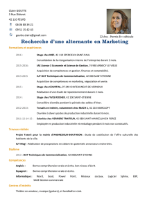 Recherche d`une alternante en Marketing