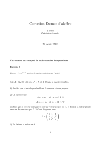 Correction Examen d`algèbre