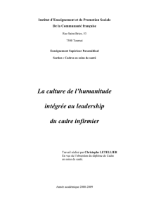 La culture de l`humanitude intégrée au leadership