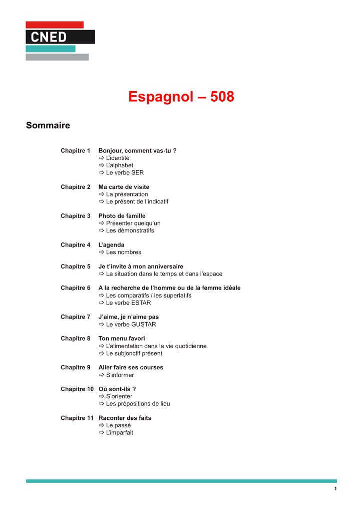 Espagnol 508