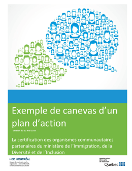Exemple de canevas d`un plan d`action